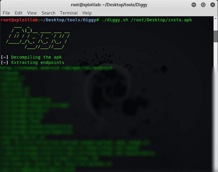 Diggy Tool For Detect All EndpointsURLs From APK Files xploitlab