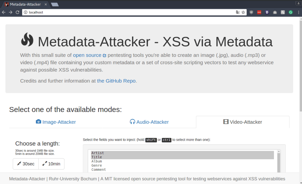 Metadata Attacker – Tool To Generate Media Files With Malicious Metadata