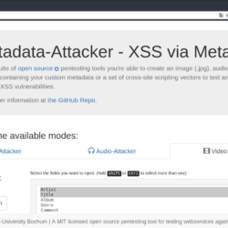 Metadata Attacker Tool To Generate Media Files With Malicious Metadata