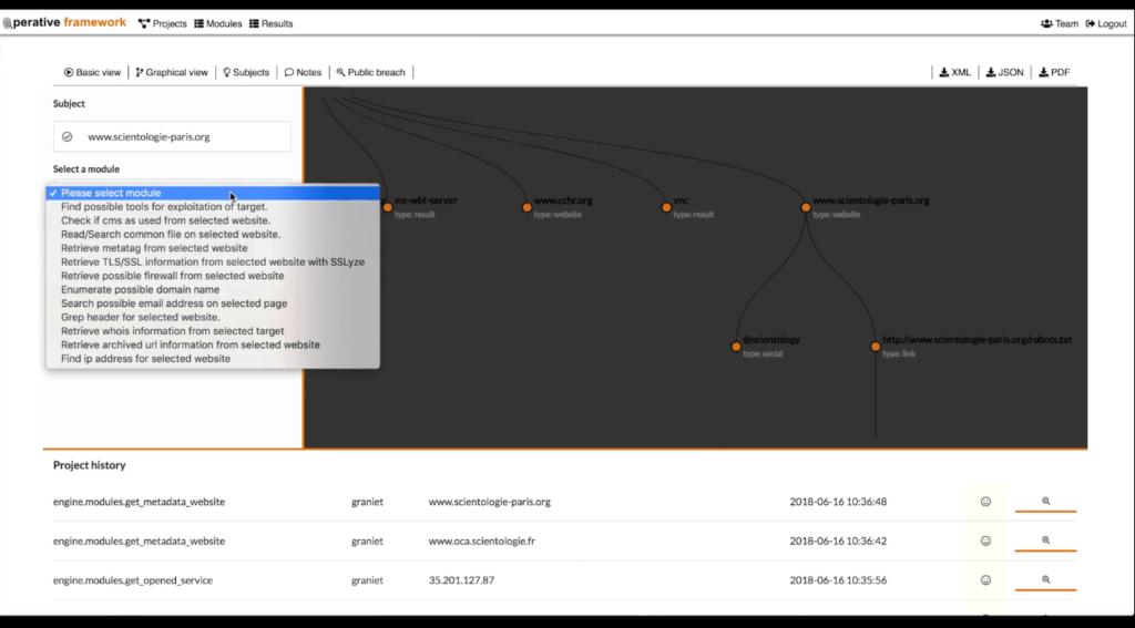 Operative Framework Tool For Digital Forensic