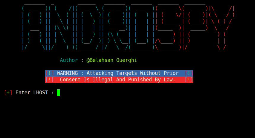 AndroSpy Dashboard Tool To Make Encrypted Android Backdoor