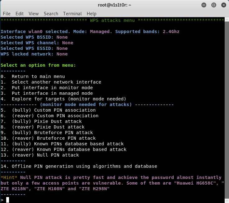 Airgeddon WPS Menu - Multi-use Bash Script To Audit Wireless Networks