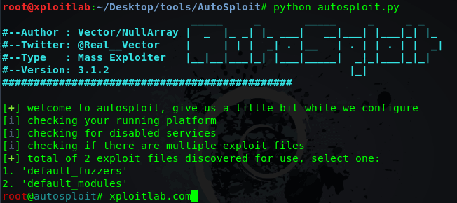 AutoSploit - Automated Mass Exploiter