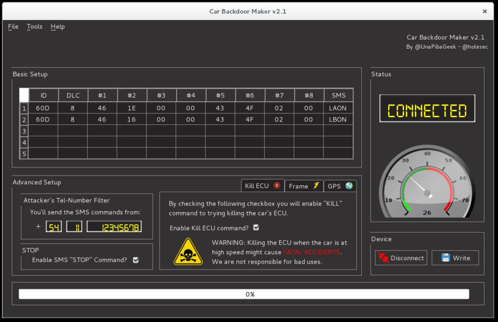 CBM - Car Backdoor Maker (hacking a car)