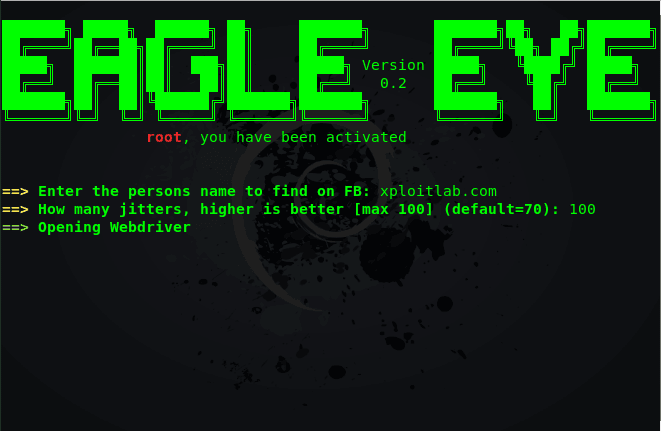 EagleEye - Find Instagram, FB and Twitter Profiles using Image Recognition and Reverse Image Search