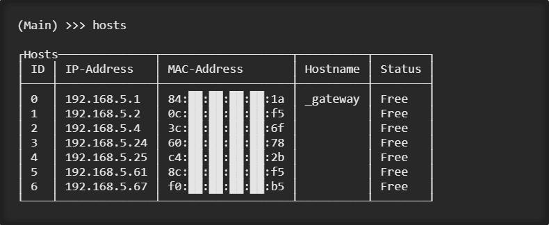 Evillimiter show free hosts xploitlab