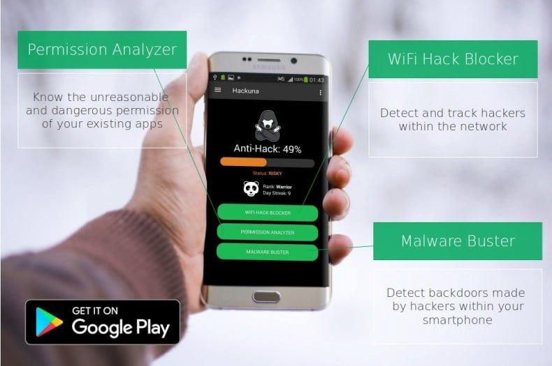 Hackuna - Mobile App To Block and Track Hackers