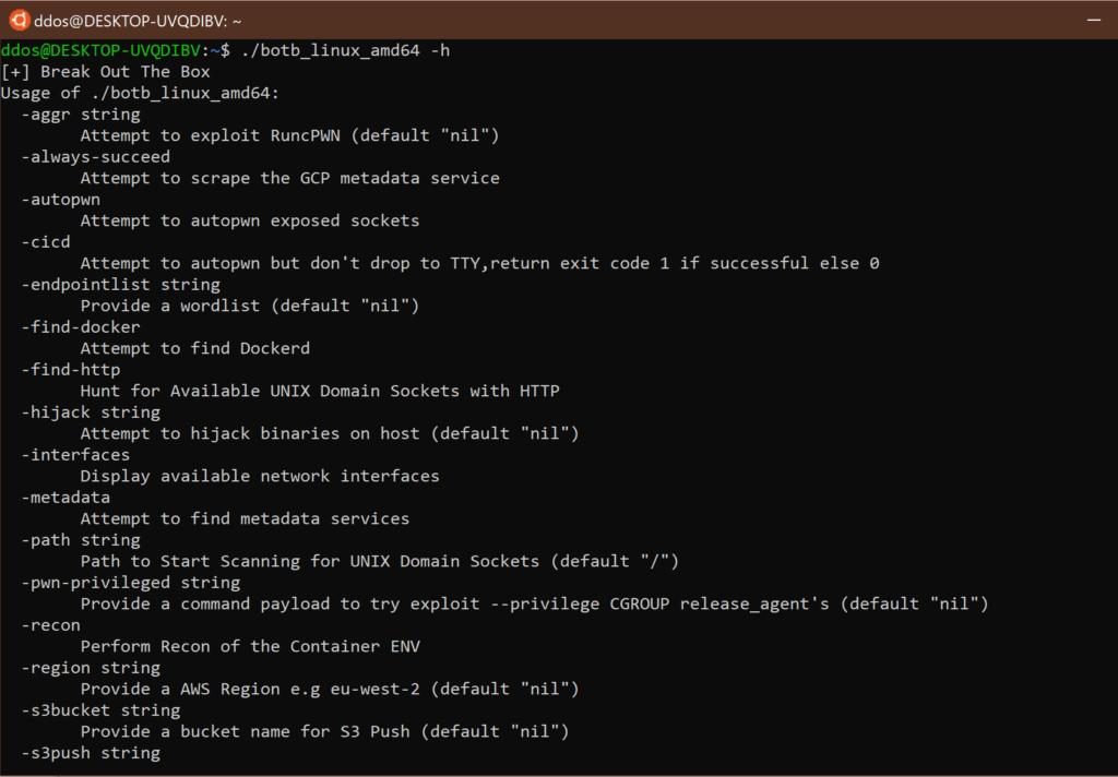 Break out the Box (Botb) xploitlab