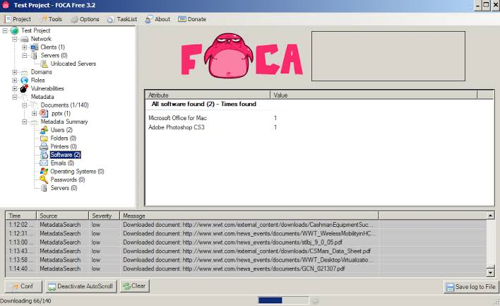 FOCA - Tool To Find Metadata And Hidden Information in The Documents xploitlab