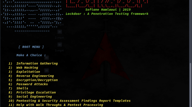 Lockdoor Framework 3 - Penetration Testing Framework with Cyber Security Resources