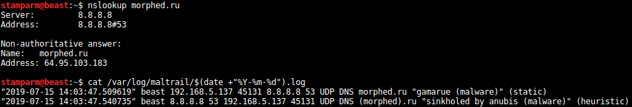 Maltrail DNS - Malicious Traffic Detection System xploitlab