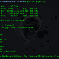 QRGen - Tool To Generate Malicious QR Code xploitlab