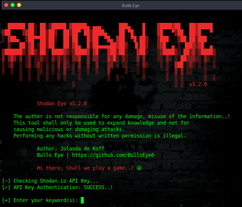 ShodanEye - Tool To Collects All Informations About All Devices Directly Connected To The Internet Using The Specified Keywords
