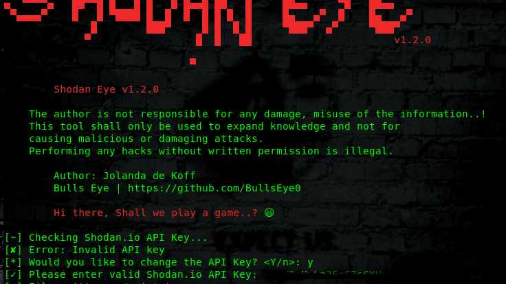 ShodanEye - Tool To Collects All Informations On internet xploitlab