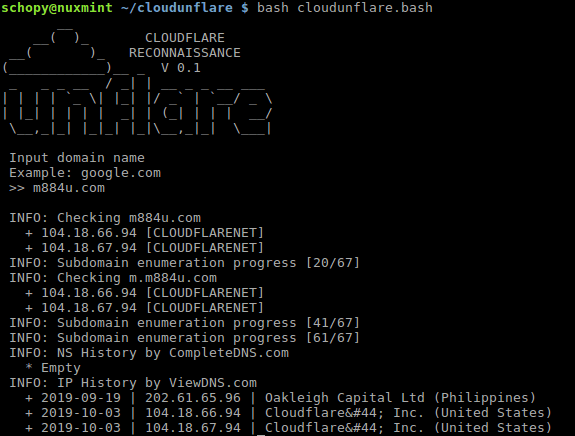 CloudUnflare - Reconnaissance Real IP address for Cloudflare Bypass