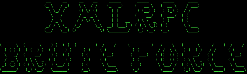 XMLRPC bruteforcer Logo - An XMLRPC Brute Forcer For WordPress xploitlab