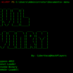 Evil-WinRM Menu - The ultimate Windows Remote Management Shell for Hacking