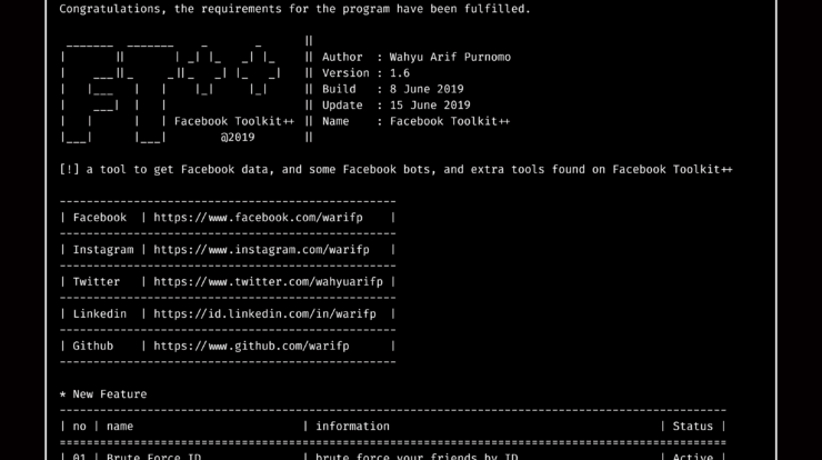 FacebookToolkit - Tool to Get Facebook Data, Automatic Facebook bots and Extra Tools