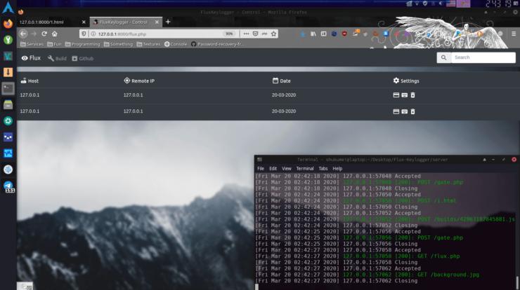 Flux-Keylogger Web Panel Dashboard - Hack facebook with keylogger