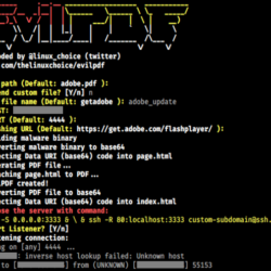 EvilPDF - Embedding Executable Files in PDF Documents to hack a computer
