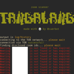 Tangalanga - The Zoom Conference Scanner Hacking Tool with TOR network