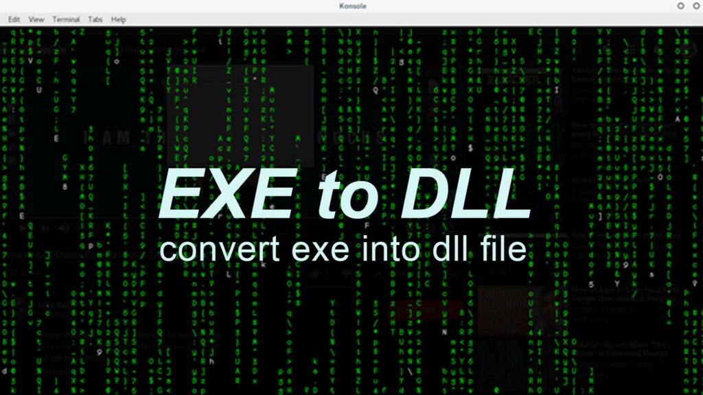 Convert exe into dll file