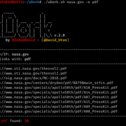 uDork - Dorking sensitive PDF file