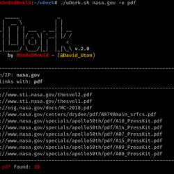 uDork - Dorking sensitive PDF file
