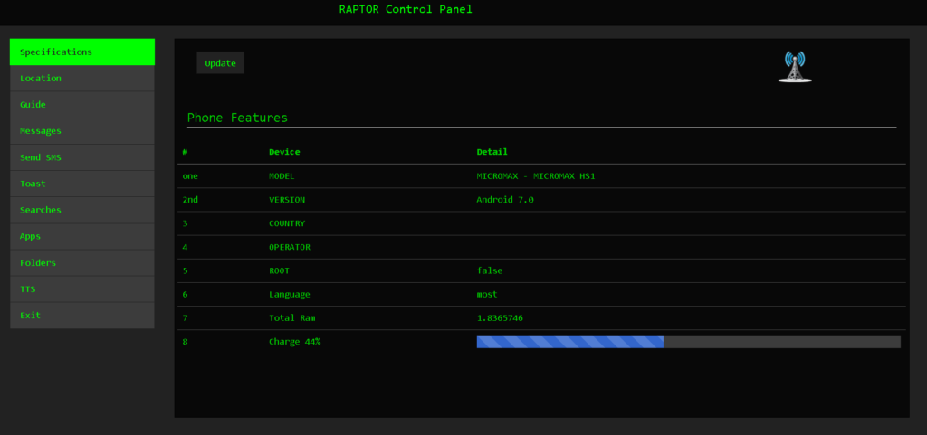 RafelRat Hack Android Device - Android Rat Written in Java With WebPanel For Controlling Victims