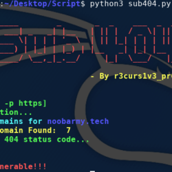 Sub404 - sublist3r and subfinder tool and checks for possibility of subdomain vulnerability takeover