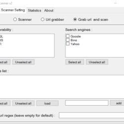 APSoft Web Scanner v2 Dork Scanning settings - Powerful Dork Searcher and Vulnerability Scanner for Windows Platform