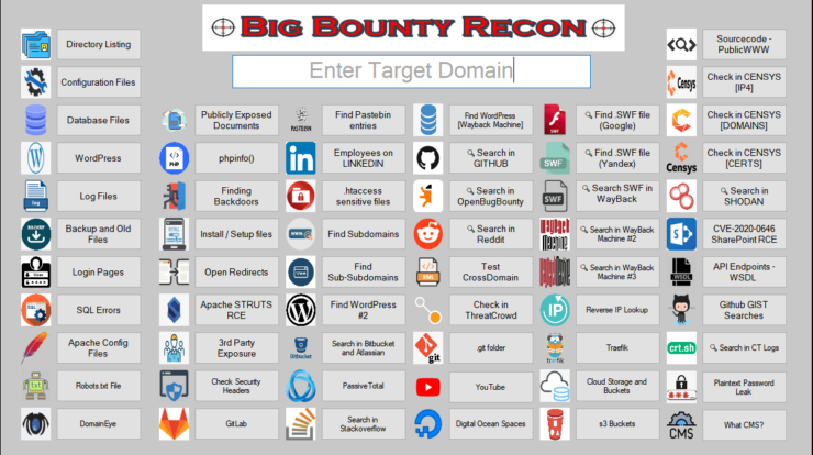 BigBountyRecon - Hacking Tool With 58 Different Hacking Techniques xploitlab