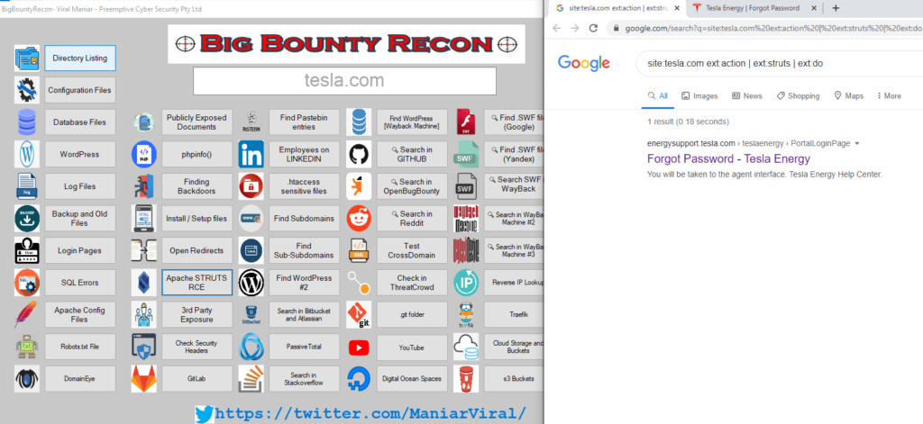 BigBountyRecon - Hacking Tool With 58 Different Techniques to Finding Apache Struts related assets