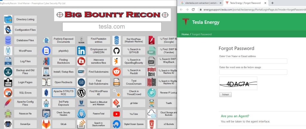 BigBountyRecon - Hacking Tool With 58 Different Techniques to Verifying if the URL contains extenstion of .do
