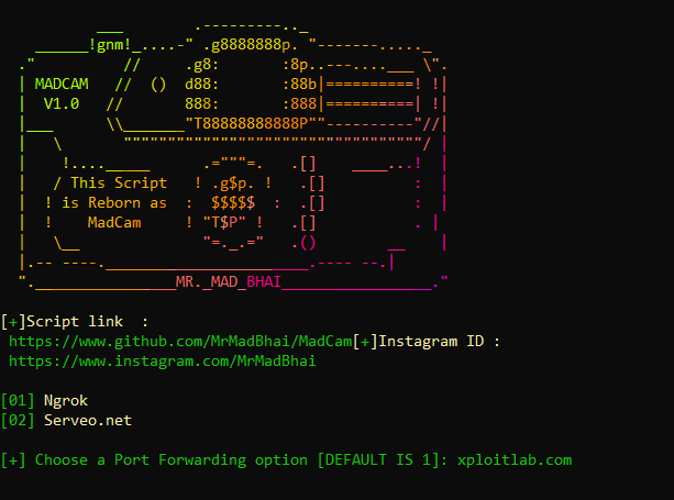 MadCam - Tool to Grab Camera Shots From Targeted Devices With Just a Link xploitlab