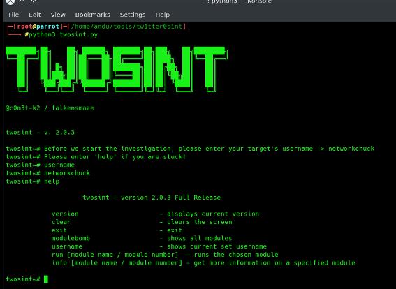 Twosint - Automated OSINT Tool to Investigate Twitter xploitlab