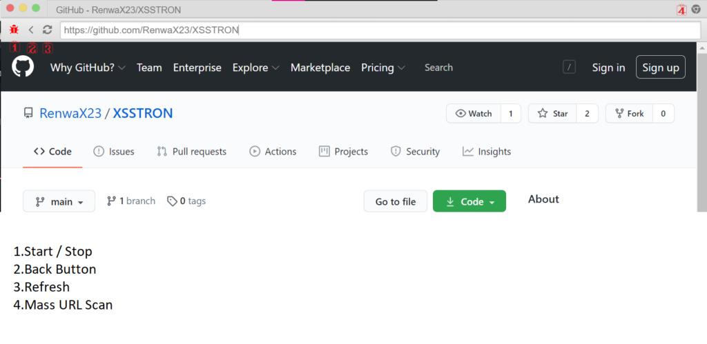 Xsstron Dashboard - Browser To Find XSS Vulnerabilities On Internet xploitlab