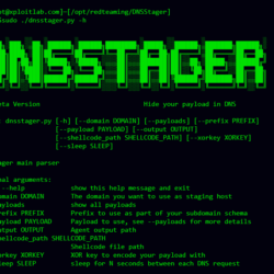 DNSStager Create a malicious DNS server to hide and transfer your payload using DNS