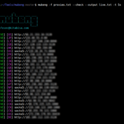 Mubeng - Fast Proxy Checker and IP Rotator Tool To bypass block ip while scanning and scaping