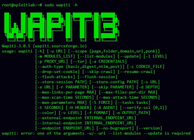 Wapiti - Advance Black Box Web Vulnerability Scanner